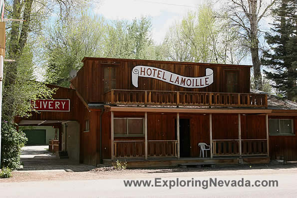 Photographs Of Lamoille Nevada The Hotel Lamoille