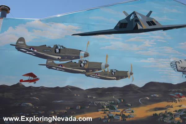 Photographs Of Tonopah Nevada Beautiful Air Force Mural